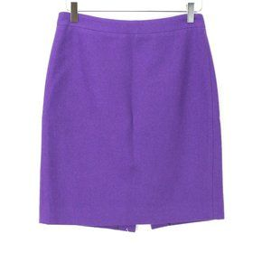 J Crew Pencil Skirt Double Serge Wool 2 Purple